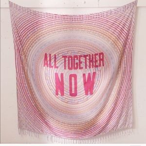 "Pink Purple "" ALL TOGETHER NOW""patterned tapestry"